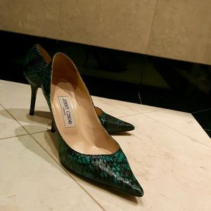 Jimmy Choo Shoes (Green Snake)